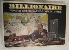 Vintage Board Games - Billionaire - Parker Brothers