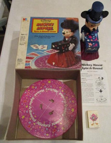 Vintage Board Games - Mickey Mouse Spin-a-Round Game - Milton Bradley