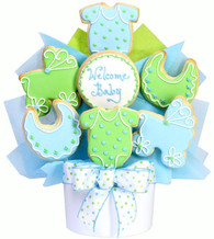 New Baby Boy Cookie Basket
