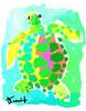 Green and Pink Turtle Print