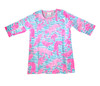Gretchen Scott Mommy & Me Childrens Tunic Tiger Tails Turq/Pink