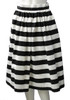Black & White Stripe Party Skirt