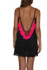 Lana Short Dress Black with Hot Pink Tassels