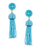 Tassel Earrings | Aqua