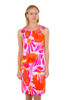 Gretchen Scott Tassel Tie Dress Orange/Pink Frond Frenzy