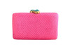 Jen Clutch with Turquoise Stone | Pink