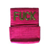 Open @ Your Own Risk | Pink & Green Beaded Cardholder