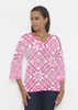 Before & Again | Banded 3/4 Bell Sleeve Tunic | Pink Antiquity