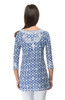 Gretchen Scott Great Geo Embroidered Tunic Navy/White