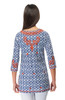 Gretchen Scott Great Geo Embroidered Tunic Navy/Orange