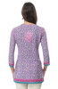 "Gretchen Scott Embroidered ""Silk"" Tunic - Purple/Pink"