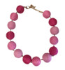 Multi Pink Threaded Ball Necklace