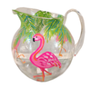 Flamingo Party Hand Painted Acrylic Pitcher