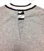 Gucciesque Crew Neck Lace Back Sweater | Gray