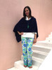 Barbara Gerwit 100% Cotton Palazzo Pant | Blue Seashells
