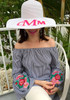 Hand Painted Floppy Hat | 3 Letter Traditional Monogram