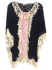 Lace Cover Up with Fringe | Black