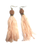 Knots & Tassle Earring | Light Pink