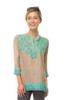 Gretchen Scott Silk Embroidered Tunic | Earl Gray