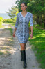 Gretchen Scott Bordertown Wildcat Dress | Charcoal/Blue