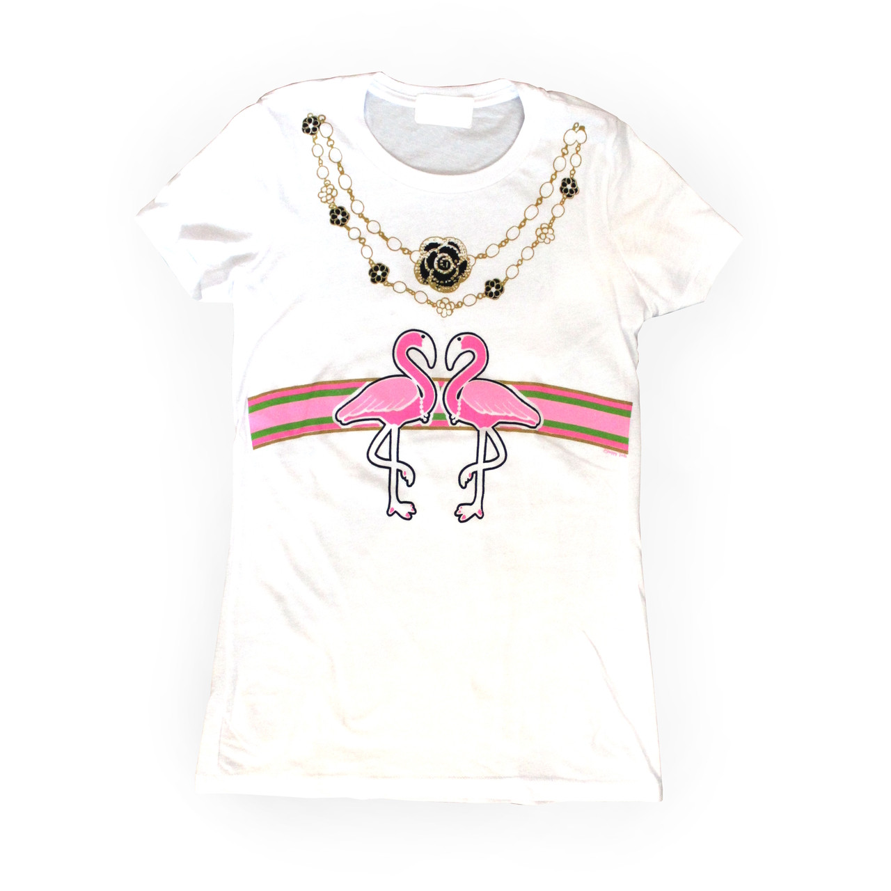 gucci tee. flamingo-a-gucci fitted short sleeve tee gucci r