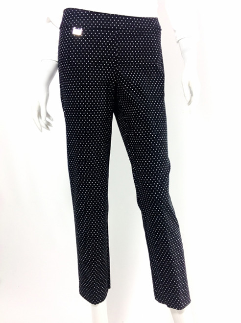 Lisette Ankle Black with White Dots Magic Pant