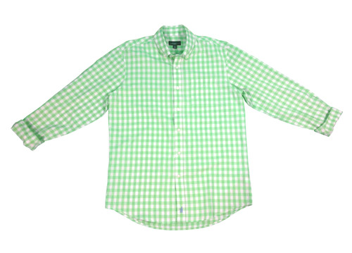 Johnnie-O Green Gingham Sport Shirt