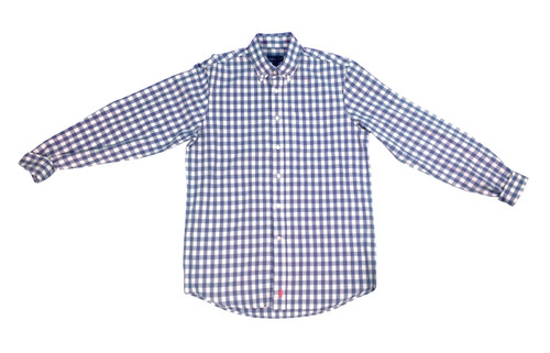 Johnnie-O Blue Gingham Sport Shirt