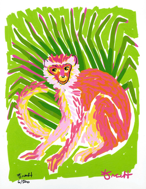 Cabbage Palm Monkey Print