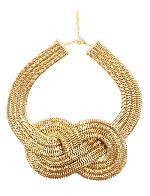 Knot Necklace Gold Links
