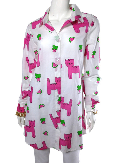 Long Button-Up Snappy Cats