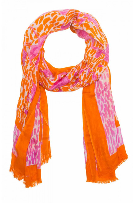Gretchen Scott Modal Scarf - Flamingle Orange/Pink