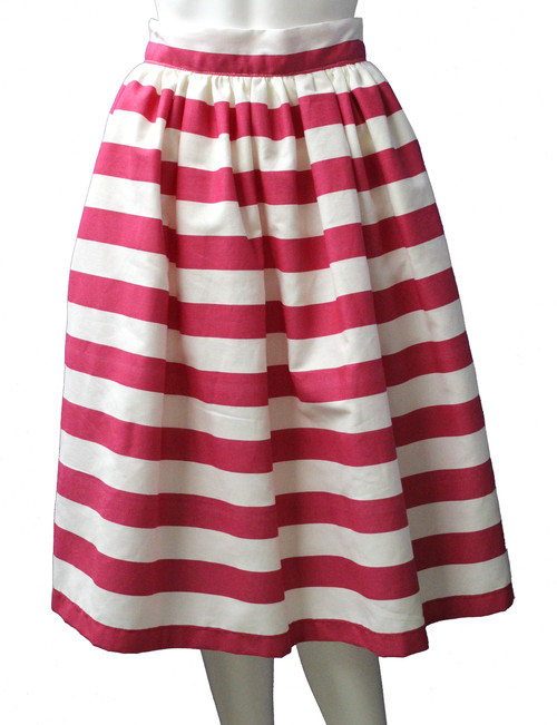 Pink & White Stripe Party Skirt