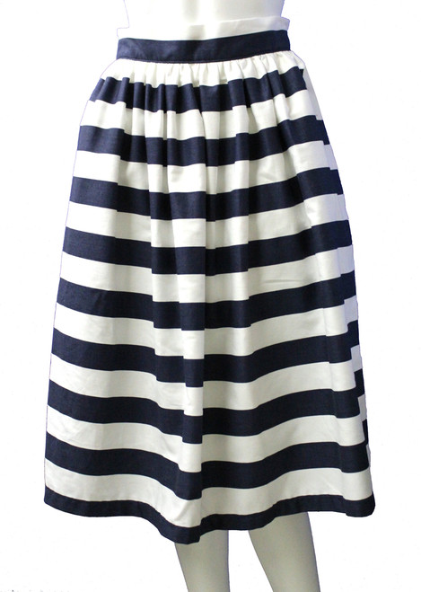 Navy & White Stripe Party Skirt