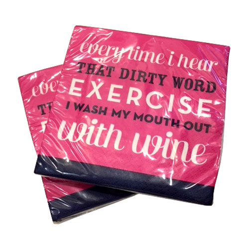 Wash Mouth Out With Wine Napkins  (Set of Two)