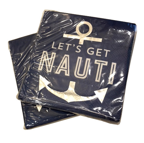Let's Get Nauti Napkins (Set of Two)