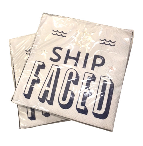 Ship Faced Napkins (Set of Two)