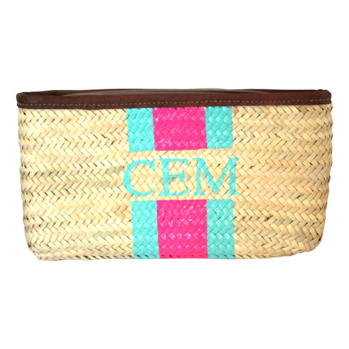 Create Your Own Monogram Hand Painted Straw Clutch
