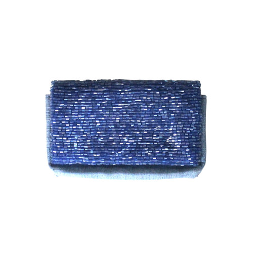 Open @ Your Own Risk | Blue & Pink Beaded Cardholder