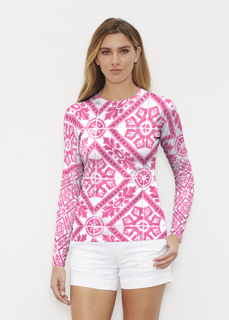 Before & Again | Long Sleeve Active Top | Pink Antiquity