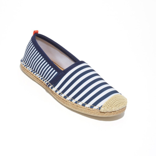 Women's Navy/White Striped Beachcomber Espadrille