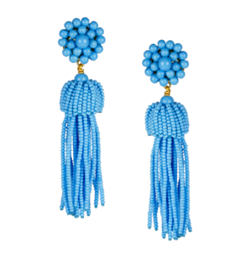 Tassel Earrings | Turquoise