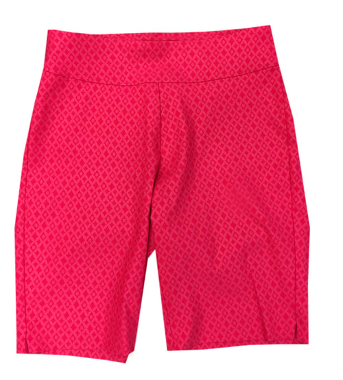Krazy Larry Hot Pink Diamond Pull On Shorts