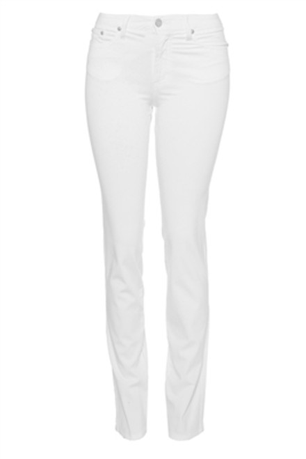 Fabrizio Gianni Cotton Twill Stretch Slim Fit Jean | White