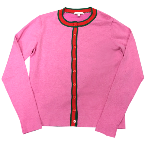 Gucciesque Stripe Cardigan | Hot Pink