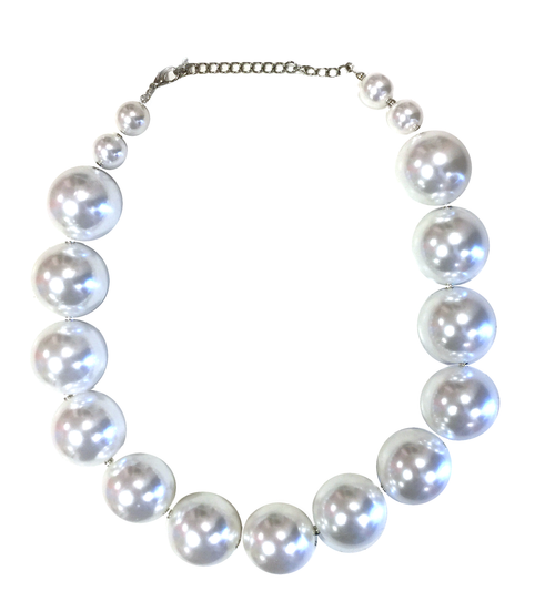 Big Chunky White Pearl Necklace