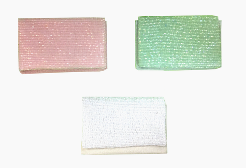 Open @ Your Own Risk | Small Pastel Beaded Card Holder