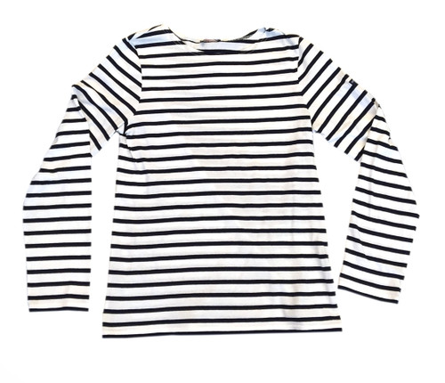 Saint James Minquiers Moder | Navy & White Stripe