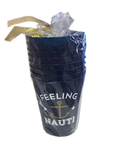 Feeling Nauti | Plastic Cups | Set of Eight