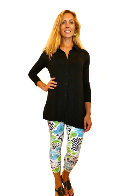 Long Sleeve Swing Shirt | Black